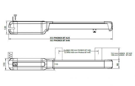 Phobos BT A25 und A40 - Skizze